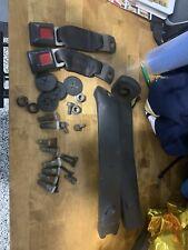 93-02 Camaro Firebird Seat Belt Guides Front Seatbelt Holders Med. Gray Pair OEM