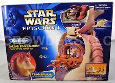Star Wars Episode 1 Micro Machine Jar Jar Binks Naboo Transforming Action Set