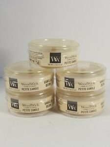 Woodwick Petite Candle VANILLA BEAN ~ Lot of 5 ~1.1 oz