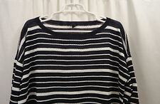 Women's Talbots Striped Linen  Sweater 1X  NWT