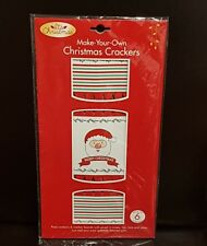 NEW - CHRISTMAS DIY CRACKERS BON BONS - SANTA - 6 PIECES PER PACK - GREAT FUN!