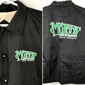 Mutant Motorsports NorCal MX Motocross Windbreaker Jacket XL Mens Black Nylon