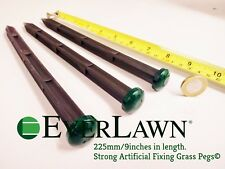 20 Pack Strong Everlasting Green Top Artificial Grass Fixing Pegs 225mm-9 inches