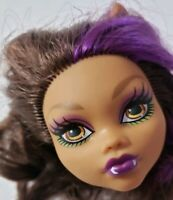 MONSTER HIGH DOLL FREAKY FIELD TRIP CLAWDEEN WOLF HEAD ONLY FOR REPLACEMENT OOAK