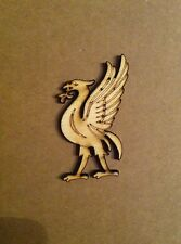 X3 Lasercut Wooden Liverbird Shapes, Crafts