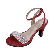 b8b453718d46 FLORAL Maria Women Wide Width Stunning Rhinestone Ankle Strap Dress Sandal  👠
