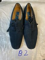 giorgio brutini mens shoes Size 10.5 Dress Shoes Suede Lace Up Blue