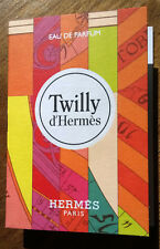 Collector Hermes perfume TWILLY 2 x 2 ml sprays + 5 Twilly perfume blotter cards