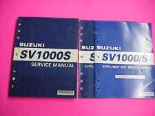 Suzuki SV1000 SV1000S Service Shop Repair Manual Printed 2/03 +2 Suppliments SM1