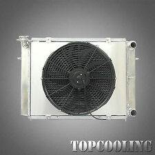 Aluminum Radiator & 14''Fan & Shroud For Holden Calais Commodore VL MT 86-88