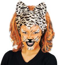 Perucke Tiger Damen Leopard Ohren Tier Wig Dschungel Karneval
