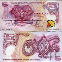 PAPUA NEW GUINEA 5 KINA 25th 2000 P 22 UNC
