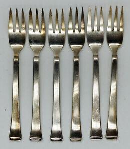 Bauhaus Entwurf - Silber 90 WMF Dessert Besteck  2500 6 Pers