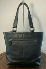 COACH Black Leather PENELOPE Lunch Medium Tote Bucket Shoulder Purse Bag F14683