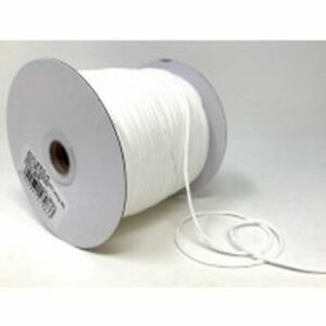 3mm x 5mtr White Soft Round Elastic - Ideal for facemasks - Nice and soft