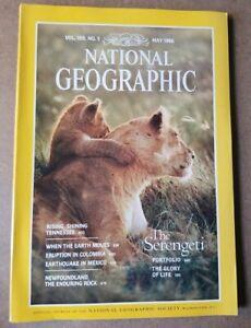 National Geographic Magazine - May 1986 - The Serengeti - Tennessee