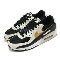Nike Wmns Air Max 90 Black Gold Summit White Beige Women Casual Shoes DB9578-001