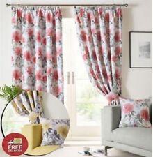 Rideaux et cantonnières à motif Floral pour la chambre en 100% coton