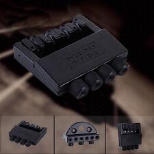 4 String Alloy Headless Tremolo Bridge System Guitar Parts Black For Bass Guitar