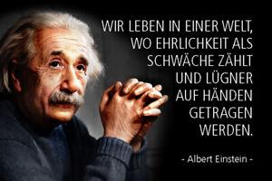 Albert Einstein Spruch 54 Blechschild Schild gewölbt Metal Tin Sign 20 x 30 cm