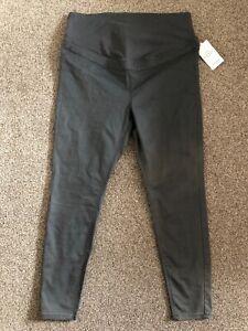 M&S MATERNITY & BEYOND Over The Bump Panel Ladies trouser UK18 EU46 BNWT Charcoa