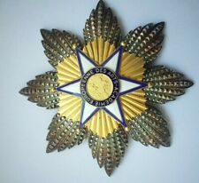 Golden Sterling silver European Art Academy medal order orden 95mm