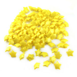 Acrylic Buttons Yellow Faceted Star 16mm Shank Pack Of 100+