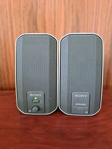 Sony Silver SRS-A202 Desktop Computer Speakers with Mega Bass Excellent Conditio