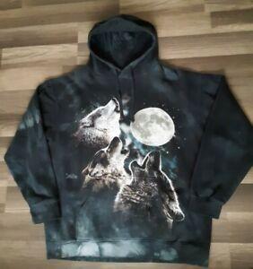 The Mountain Happy Wolf Colorful Design Unisex Hoodie Hooded Sweatshirt 724061