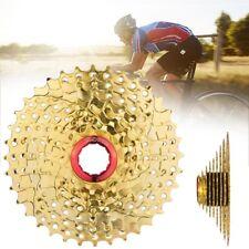 Mountain Bike Parts Metal 9 Speed Gold Freewheel Cassette 11-36T Outdoor Sports
