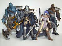 4 x Warlands Pat Lee Fantasy Comic Action Figure Bundle  Elessa Malagen Shrogran