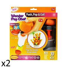 Fruits légumes Wonder créatif shaper Pop chef Cutter tronçonneuse Parti Fun 10pcs x2