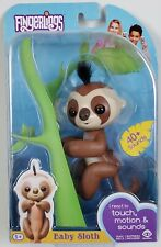 WowWee Authentic Fingerlings Pets Baby Sloth - Kingsley (Brown) with 40+ Sounds