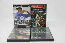 Playstation 2 Games Lot Of 4- Call of Duty, Enter the Matrix, PGA 07, Star Wars