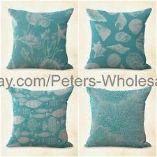 US SELLER- 4pcs patio chair cushion covers cushion covers seaplant beach shells