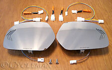 GOLDWING GL1800 MUTH SEQUENTIAL LED MIRRORS, CHROME GLASS, AMBER LED (188-SA)