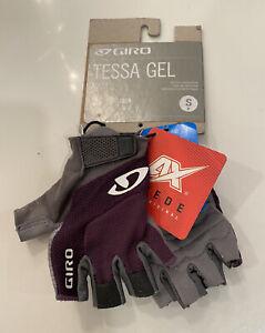 NEW Giro Tessa Gel Women's Road Cycling Gloves Purple Size Small NWT