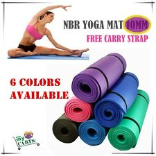 Free Postage Brand New Extra Thick 10mm NBR 6 Color Yoga Gym Pilate Mat NonSlip