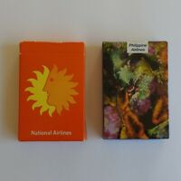 Lot of 2 Philippine and National Airlines Playing Cards