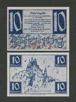 GERMANY  Wurttemberg 10 pfennig  1947  Krause1008  Uncirculated   Banknotes