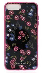 Kate Spade New York 256373 Jeweled Meadow Black Phone iPhone 7/8 Plus Case