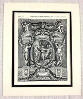 1903 Antique Print The Palace Of Versailles France Architectural Design Le Brun
