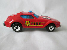 1978 Matchbox Superfast Red AMX Javelin Fire Chief Car w/border decals #64 Mint
