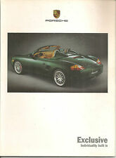 CATALOGUE PORSCHE EXCLUSIVE 2000 PORSCHE 996 PORSCHE BOXSTER 986
