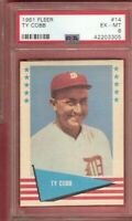 TY COBB 1961 FLEER CARD GRADED PSA 6 EX-MINT DETROIT TIGERS HALL OF FAME