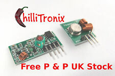 315mhz Transmitter & Receiver pair wireless PIC Arduino Raspberry Pi ASK OOK UK