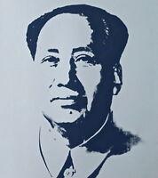 Mao (Silver) Sunday B. Morning, Silkscreen, Andy Warhol - with COA