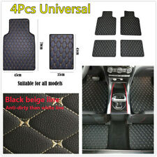 4Pcs/Set Universal Car Floor Mat Front Rear PU Leather Waterproof Carpet Pad