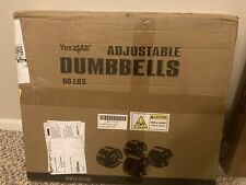 Yes4All Adjustable Cast Iron (30lb. each) Dumbbells (60 lb. Total) (Pair)