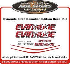 EVINRUDE E-TEC Canadian Edition Decal kit  115 135 150 175 200 225 250 hp etec